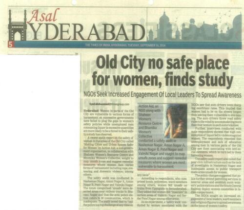Advocacy on Safety of Women