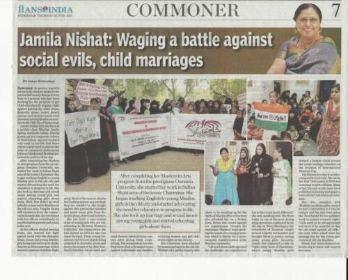 Waging Against Child Marriages