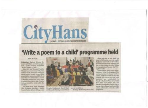 Write a Poem Programme